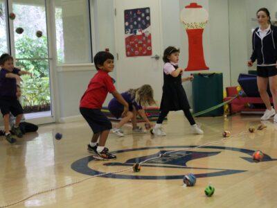 EEAE students playing dodgeball image